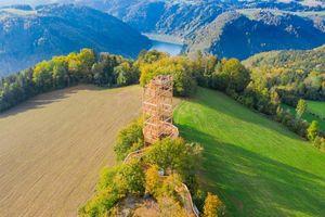 Burgstall mit Aussichtsturm Kirchberg ob der Donau